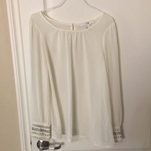 Forever 21 Sheer Top with Elaborate Sleeves